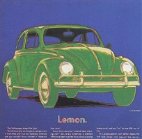 ads: volkswagen, [ii.358] by andy warhol